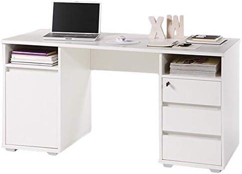 Schreibtisch Mila Weiss B 145 Cm Jugendzimmer Kinderzimmer Pc Computertisch Kinder Jugendschreibtisch Burotisch Amazon De Kuche Haushalt