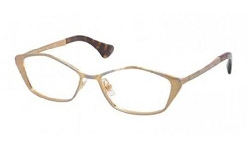 Miu Miu MU53LV Eyeglasses-LAF/1O1 Golden - Miu Eyeglasses Miu 2013
