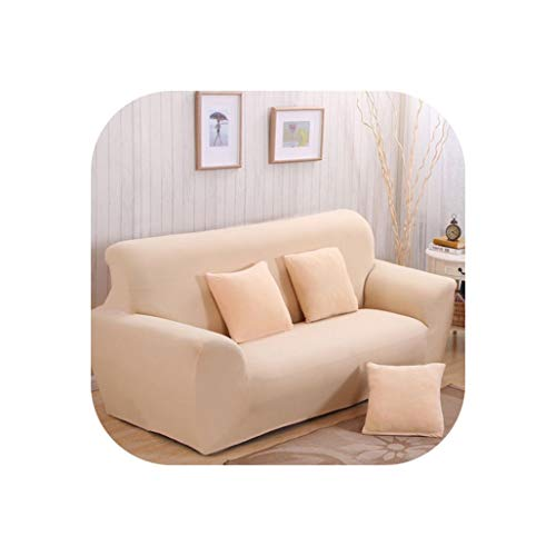 Universal Elastic Home Sofa Cover Slip-Resistant Tight Wrap All-Inclusive Slipcover Furniture Loveseat Protector Cover,Beige,2Pcs Cushion - Outdoor Melbourne Loveseat Cushions