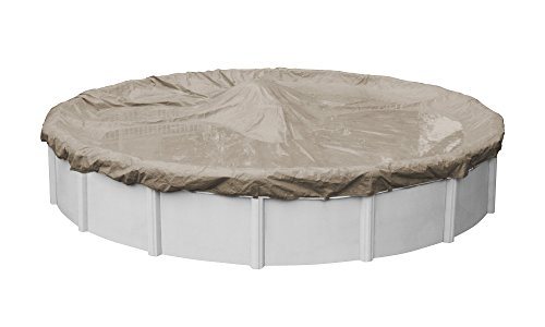 (Pool Mate 5712-4 Sandstone Winter Pool Cover for Round Above Ground Swimming Pools, 12-ft. Round Pool)