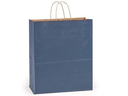 100% papel Kraft reciclado Tint bolsas - Reina azul oscuro ...