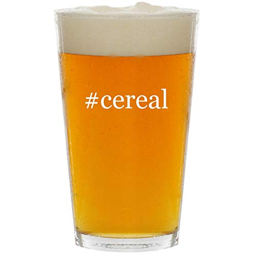#cereal - Glass Hashtag 16oz Beer Pint