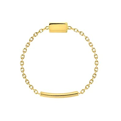 76dbb8f984ac Anillo de cadena de oro amarillo de 14 quilates