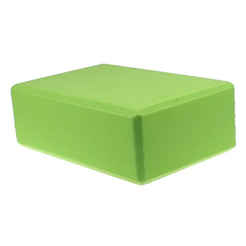 DETALLAN EVA Yoga Block Brick Sports Exercise Fitness Gym Workout Stretching (Green)
