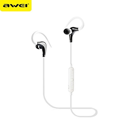 Awei A890BL Bluetooth 4.0 Wireless Sport Earphones (White) - 1