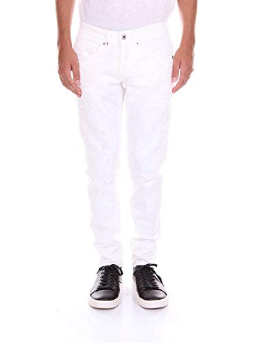 Jeans Cotone Uomo Up232bs015xs14duwhite Bianco Dondup P0Nwk8OXn