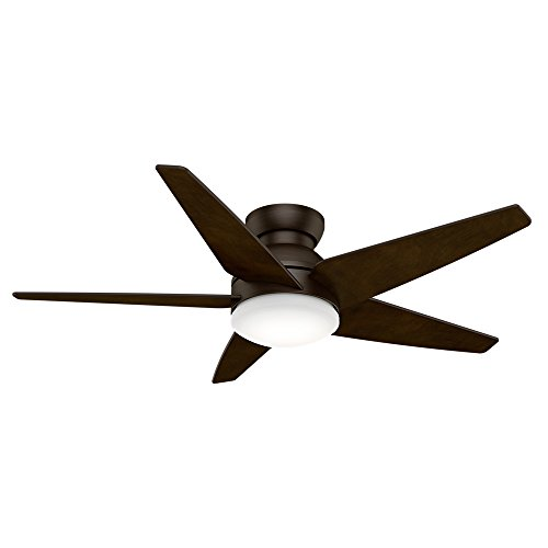 Casablanca Indoor Low Profile Ceiling Fan with LED Light and wall control - Isotope 52 inch, Cocoa, - Light Casablanca
