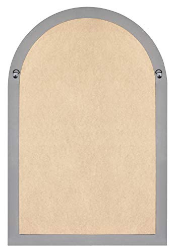 MCS 68874 Countryside Arched Windowpane Wall, Gray, 24x36 Inch Overall Size Mirror by MCS (Image #4)