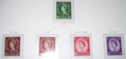 1955 QUEEN ELIZABETH II WILDINGS, WATERMARK SIDEWAYS, SET OF 5, UNMOUNTED MINT. ()