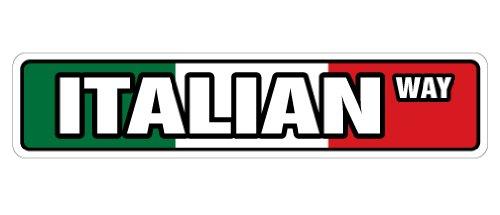 ITALIAN FLAG Street Sign italy italiano flags pride new