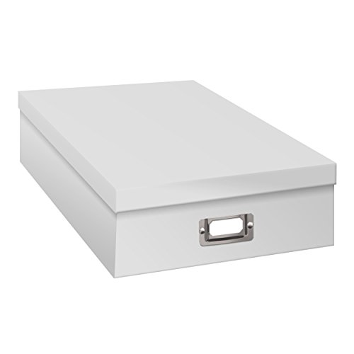 Pioneer Jumbo Scrapbook Storage Box, Crafters White, 14 3/4