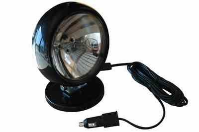 6.5 Million Candlepower Halogen Spotlight - 200lb. Magnetic Grip Base - 12 Volt - 50 Watts(-10'-Coil Cord) by Larson Electronics