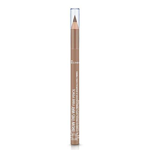 Rimmel Brow This Way Fibre Pencil, 001 Light, 0.05 Ounce ()