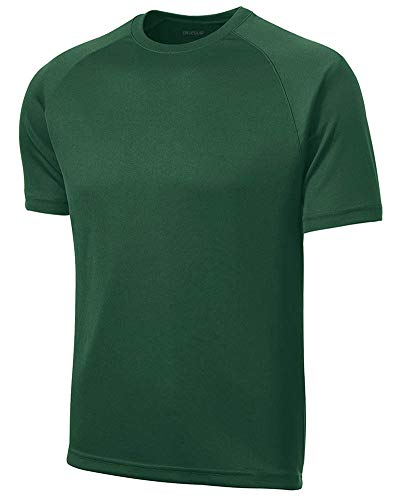 Green Moisture Wicking Short Sleeve T-Shirt-