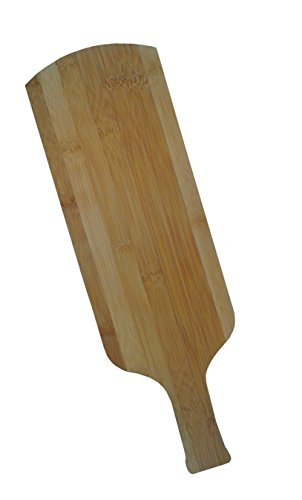 (Nature Bamboo Serving Board/ Cutting Board Wine Bottle Shape, S Size.)