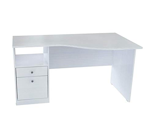 Wood & Style Office Home Furniture Premium Laura Collection Curved Top Desk