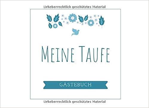 Meine Taufe Gästebuch Gästebuch Mit Rahmen Zur Taufe Mit