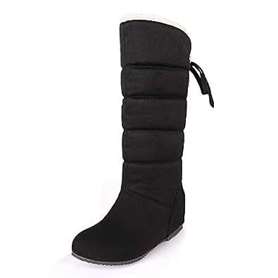 Amazon.com | Women's Winter Add Warm Plush Slip On Warm