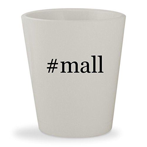 #mall - White Hashtag Ceramic 1.5oz Shot - 17 Tanger Outlet