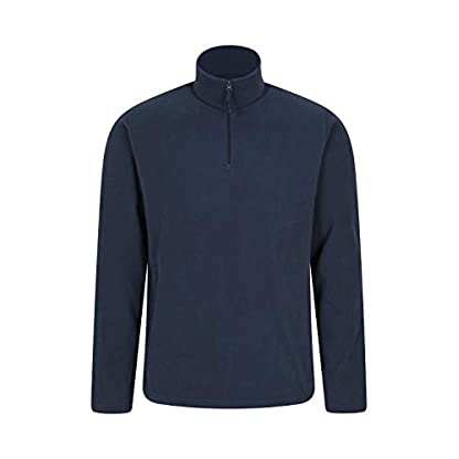 Mountain Warehouse Mens Camber Fleece Top - Lightweight Top, Breathable Sweater, Quick Drying Pullover, Extra… 1