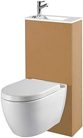 Planetebain Pack WC suspendida Rimless con Lava Manos Integrado ...