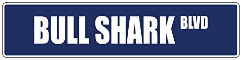 Sign Street Shark (Bull Shark Purple 4