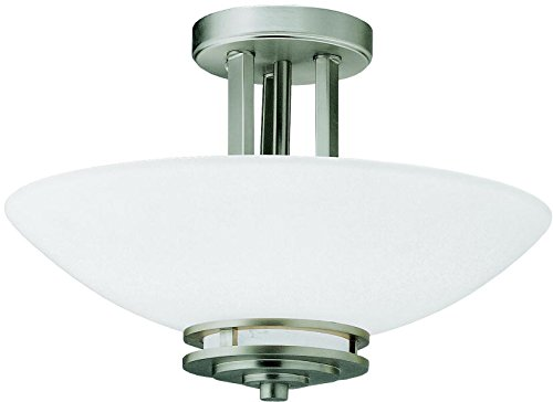 - Kichler 3674NI Semi-Flush 2-Light, Brushed Nickel