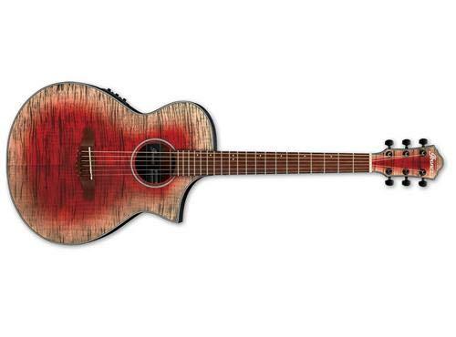- Ibanez AEWC32FM Acoustic-Electric Guitar (Glacier Red)