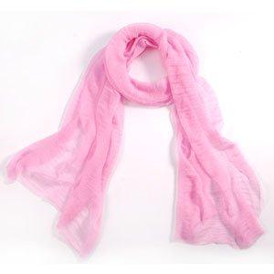 5d0ad5deec3 Foulard leger en fils rose pour femme coton echarpe mode  Amazon.fr ...