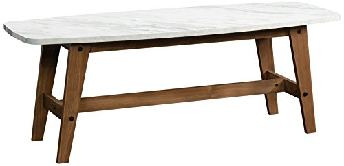 Coffee Tables Wood Modern (Sauder Soft Modern Cocktail/Coffee Table in Fine Walnut Finish)