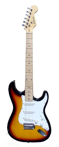 Bad Aax SST06 Double Cut-Away Guitar with Maple Neck, Tobacco Burst