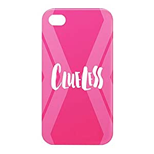 Loud Universe Apple iPhone 4/4s 3D Wrap Around Clueless Print Cover - Pink/White