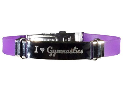ics bracelet gifts jewelry accessories for girls boys gymnast collection(1 Bracelet + 1 Bag) (Purple) ()