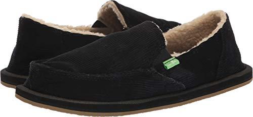 Sanuk Women's Donna Chill Cord Loafer Flat, Black, 8 M US