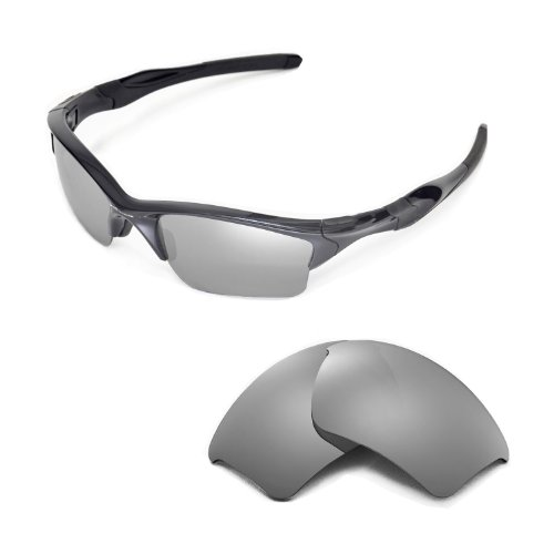 Walleva Replacement Lenses for Oakley Half Jacket 2.0 XL Sunglasses - Multiple Options Available (Titanium Mirror Coated - - 2.0 Jacket Lenses Half Oakley