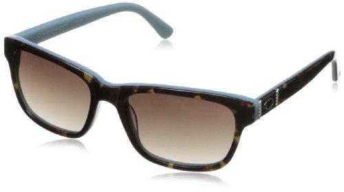 O by Oscar de la Renta Eyewear Women's SSC5108 Rectangular Sunglasses,Brown & Blue,174 - La Oscar De Sunglasses Renta