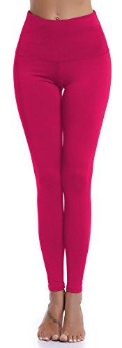 Aenlley Womens High Waist Yoga Pants Tummy Control Workout Training Tight Leggings