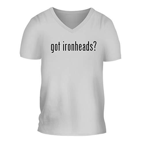 got Ironheads? - A Nice Men's Short Sleeve V-Neck T-Shirt Shirt, White, Large