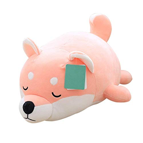 Molizhi Dog Soft Plush Pillow Cute Animal Stuffed Toy Gift for Halloween, Christmas,Pink 14
