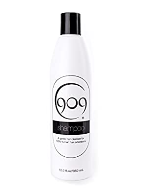 909 Gentle Hair Cleansing Shampoo for 100% Remy Human Hair Extensions and Wigs (12 oz)