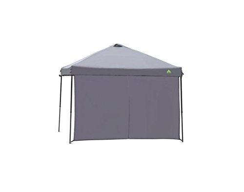 Sun Wall Shade Dark Gray 10′ x 10′ for a Straight Leg Canopy / Gazebo 10×10 by Ozark Trail, UV 50+