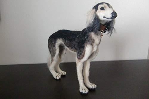 羊毛フェルト 犬 サルーキ B07SSSH2VS