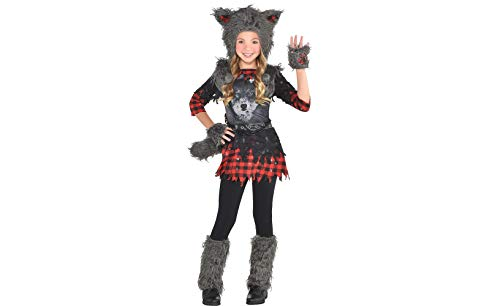 Little Girl Wolf Costume (amscan Girls She Wolf Costume - X-Large (14-16),)