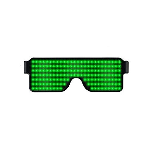 KOBWA Light Up Eyeglasses Flashing Shutter Neon Glowing Glasses Multicolor LED Luminous Glasses with 8 Modes for Party Christmas -