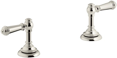 KOHLER T98071-4-SN Artifacts Deck-mount bath lever handle trim, Less Spout, Vibrant Polished Nickel
