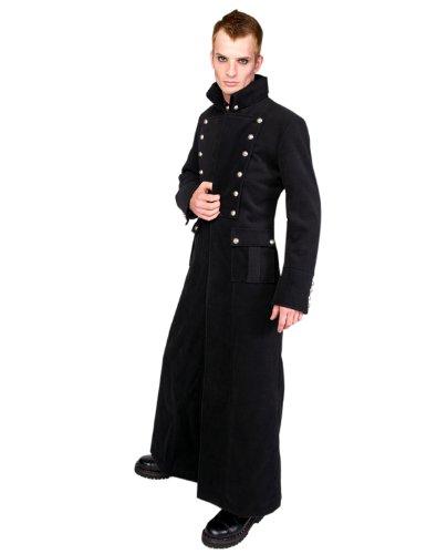 Aderlass Admiral Long Coat Wool SALE Black (Noir)