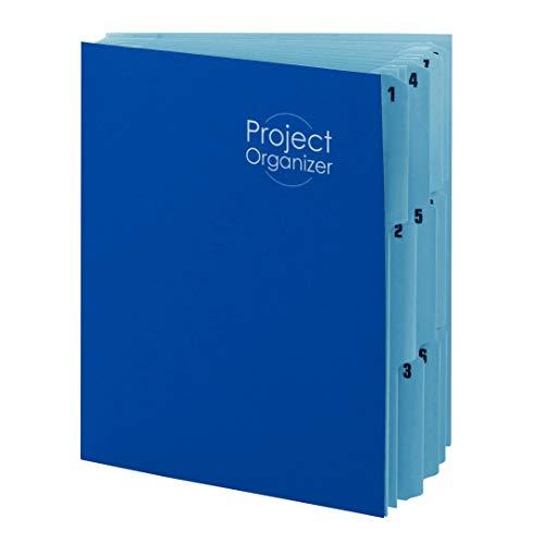 - Smead 10-Pocket Project Organizer, Letter Size, Navy/Lake Blue (89200)