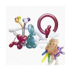 Latex Animal Modeling Balloons (Package of 144 Balloons) by Fun Express