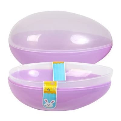 "Natorytian Jumbo Easter Egg Plastic Egg Shaped Containers Assorted Pastel Colors, 7 3/4"" - Set of 2: Toys & Games"