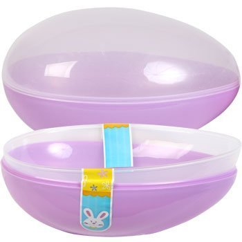 Jumbo Easter Egg Plastic Egg Shaped Containers Assorted Pastel Colors